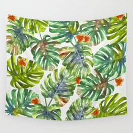 Palm Leaves Pattern 1 Wall Tapestry
