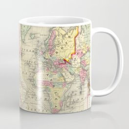 Vintage Map of The World (1860) Coffee Mug