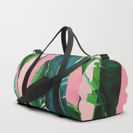 ?Green Nature on Pink Duffle Bag
