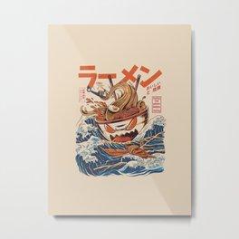 The Great Ramen off Kanagawa Metal Print