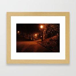 Eerie Park Framed Art Print