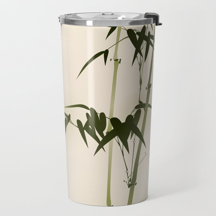 Oriental style bamboo branches 001 Travel Mug