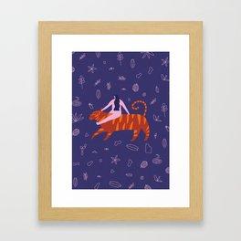 Night safari poster Framed Art Print