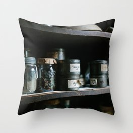 Vintage Pantry & Spices II Throw Pillow
