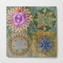 Rethank Weave Flower  ID:16165-002645-43931 Metal Print