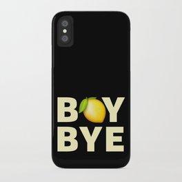 Boy Bye iPhone Case