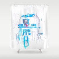r2d2 Shower Curtains featuring R2D2 by sooarts