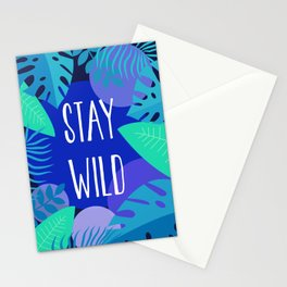 Stay Wild Blue Stationery Cards