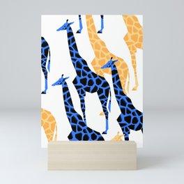 Giraffes march Mini Art Print