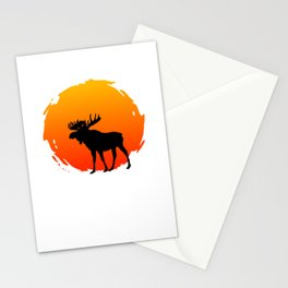 An Elk With A Sunset Stationery Cards