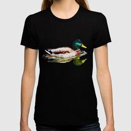 Mallard Duck Hunt Hunter Hunting Bird Wildlife Animal Watercolor Artistic Painting T-shirt