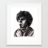 evan peters Framed Art Prints featuring Evan Peters by Luna Perri