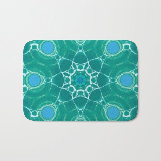 Cyan Star Mandala Bath Mat