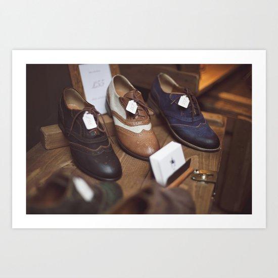 Camdem Shoes Art Print