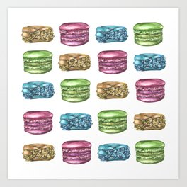 Colorful Macaroon Variety Art Print