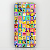 simpsons iPhone & iPod Skins featuring Simpsons by thev clothing