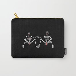 Skeleton Male & female Carry-All Pouch