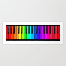 Rainbow Piano Keyboard  Art Print
