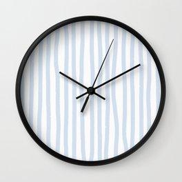 Light Blue Stripes Wall Clock