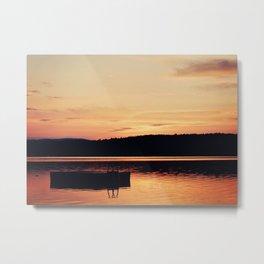 Dock at Dawn Metal Print