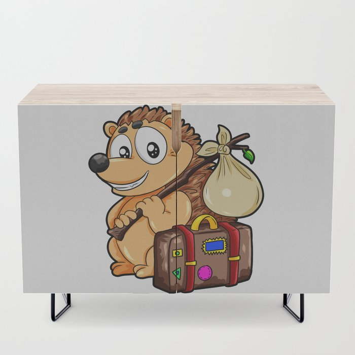 Traveling_Hedgehog_Luggage_Baggage_Globetrotter_Credenza_by_WeBo_And_Dragons__Black__Birch