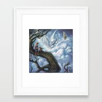 once upon a  time Framed Art Prints featuring Once Upon A Time by muratturan