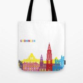 Groningen skyline pop Tote Bag