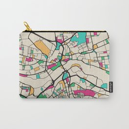Colorful City Maps: Newcastle upon Tyne, UK Carry-All Pouch