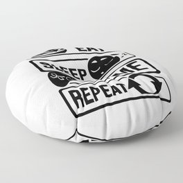 Eat Sleep Game Repeat | Video Game Console Gaming Floor Pillow