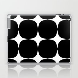 Retro '50s Shapes in Black and White Laptop & iPad Skin