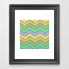 Spring day Chevron Framed Art Print