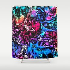 Objects Floating in Aurora2 Shower Curtain