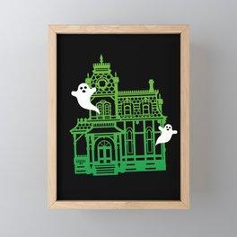 Haunted Victorian House Framed Mini Art Print
