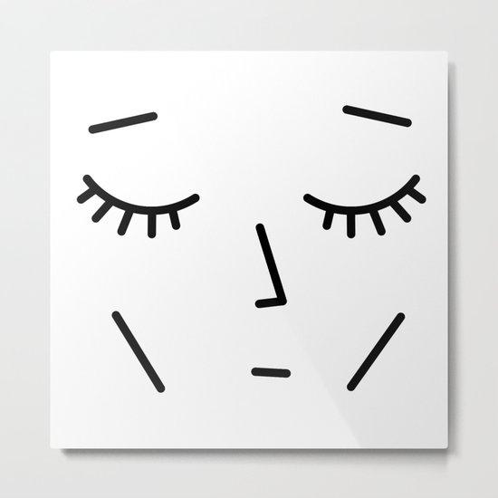 Face Sleep Metal Print