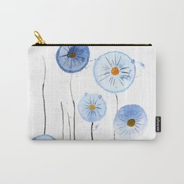 blue abstract dandelion 2 Carry-All Pouch