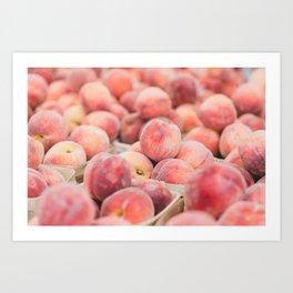 Peaches at the Farmer's Market Art Print
