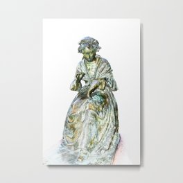 The Leicester Seamstress Statue Metal Print