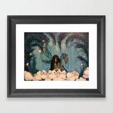 Dark Fairy Framed Art Print