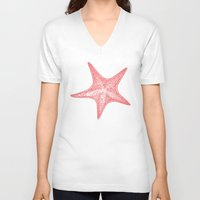 starfish V-neck T-shirts featuring Starfish by AleDan