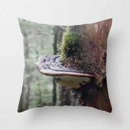 Magical Fungi World | Nature Photography Throw Pillow
