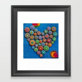 Mandala Stone Love Heart Framed Art Print