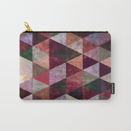Abstract #480 Grunge Triangles #2 Carry-All Pouch