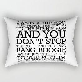 HIP HOP BOGGIE WHITE Rectangular Pillow