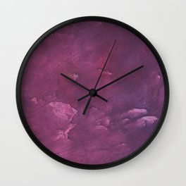Dark purple vague watercolor Wall Clock