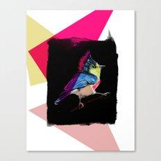 Neon Bird Canvas Print