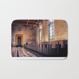 Los Angeles Union Station. Historic Ticket Counter. © J&S Montague. Bath Mat