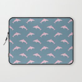 Pink Dolphin Pattern Laptop Sleeve