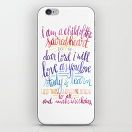 Child of the Sacred Heart iPhone Skin