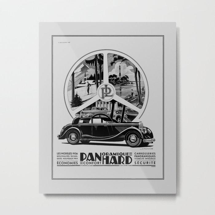 Panhard 1936 classic French art deco auto Metal Print