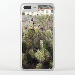 Moody Prickly Pear Clear iPhone Case